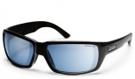 Smith Touchstone Sunglasses Sunglasses - Black/ Polar Blue Mirror