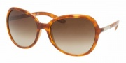 Prada PR 25LS Sunglasses Sunglasses - Light Havana/Brown Gradient (4BW6S1)