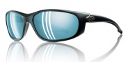Smith Chamber Sunglasses - Matte Black / Polarize Blue Mirror