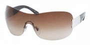 Bvlgari BV6030B Sunglasses Sunglasses - (102-13) Palladium / Brown Gradient