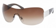 Bvlgari BV6030B Sunglasses Sunglasses - (341-13) Palladium / Brown Gradient