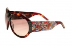 Ed Hardy EHS 002 Koi Fish Sunglasses - Tortoise