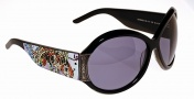 Ed Hardy EHS 002 Koi Fish Sunglasses - Black