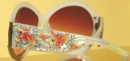 Ed Hardy EHS 002 Koi Fish Sunglasses - Cloud