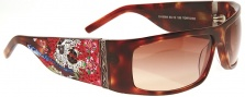 Ed Hardy EHS 004 Beautiful Ghost Sunglasses - Tortoise