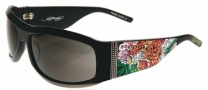 Ed Hardy EHS 007 Alive Aware Sunglasses - Black