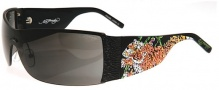 Ed Hardy EHS 009 Tiger Running Sunglasses - Black