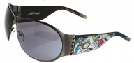Ed Hardy EHS 011 Battle Sunglasses - Gunmetal
