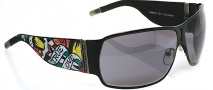 Ed Hardy EHS 012 Love Kills Slowly Sunglasses - Black