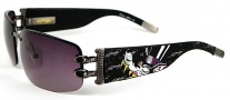 Ed Hardy EHS 016 Lover Boy Sunglasses - Gunmetal