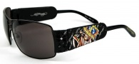 Ed Hardy EHS 017 King of Beasts Dog Sunglasses - Black