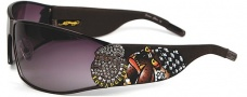 Ed Hardy EHS 018 La Dog Sunglasses - Gunmetal
