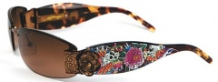 Ed Hardy EHS 020 Skull Butterflies Sunglasses - Cocoa