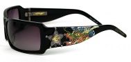 Ed Hardy EHS 021 Dragon Sheriff Sunglasses - Black