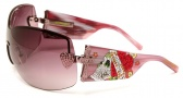 Ed Hardy EHS 023 Zeke Sunglasses - Pink Sapphire