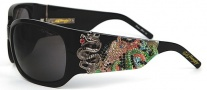 Ed Hardy EHS 025 Geisha & Dragon Sunglasses - Black