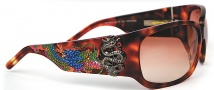 Ed Hardy EHS 025 Geisha & Dragon Sunglasses - Wheat