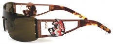 Ed Hardy EHS 026 Rabbit Sunglasses - Cocoa