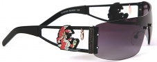 Ed Hardy EHS 026 Rabbit Sunglasses - Black