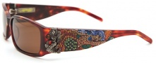 Ed Hardy EHS 029 Mermaid Sunglasses - Tortoise