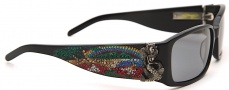 Ed Hardy EHS 029 Mermaid Sunglasses - Black