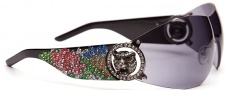 Ed Hardy EHS 030 White Tiger Sunglasses Sunglasses - Black