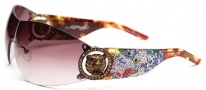 Ed Hardy EHS 030 White Tiger Sunglasses Sunglasses - Tortoise