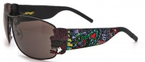 Ed Hardy EHS 034 Crunk Rock Sunglasses - Black