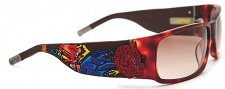 Ed Hardy EHS 036 Devil on Panther Flat Sunglasses - tortoise