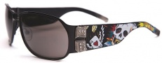 Ed Hardy EHS 037 Winner Take All Sunglasses - Black