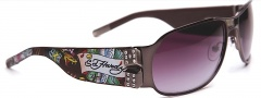 Ed Hardy EHS 037 Winner Take All Sunglasses - Gunmetal