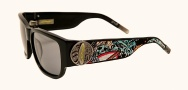 Ed Hardy EHS 040 Surf or Die Sunglasses - Black