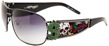 Ed Hardy EHS 043 Winner Take All Sunglasses - Black