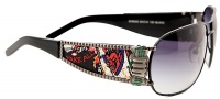 Ed Hardy EHS 043 Winner Take All Sunglasses - Gunmetal