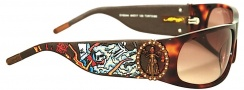 Ed Hardy EHS 044 Live to Ride Sunglasses - Tortoise