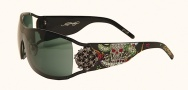 Ed Hardy EHS 045 Death or Glory Los Angeles Sunglasses - Black