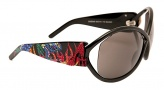 Ed Hardy EHS 048 Pinup Devil Sunglasses - Black