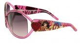 Ed Hardy EHS 048 Pinup Devil Sunglasses - Pink Sappire