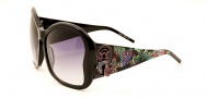 Ed Hardy EHS 049 Butterflies Sunglasses - Black