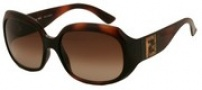 Fendi FS 501 Sunglasses - 238 Dark Havana / Brown Gradient