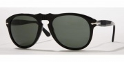 Persol PO 0649 Sunglasses Sunglasses - (95/58) Black / Crystal Green Polarized