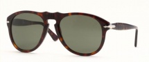 Persol PO 0649 Sunglasses Sunglasses - (108/33) Light Havana / Crystal Brown (52 size only)