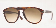 Persol PO 0649 Sunglasses Sunglasses - (96/33) Light Havana / Crystal Brown