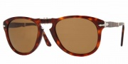 Persol PO 0714 Sunglasses (Folding) Sunglasses - (24/57) Havana / Crystal Brown Polarized