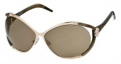 Roberto Cavalli Taigete Sunglasses - O772 Light Gold Bronze / Brown