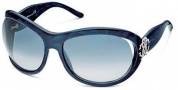 Roberto Cavalli Teutra Sunglasses - OU15 Striped Blue Silver / Blue Gradient