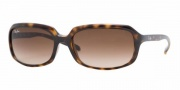 Ray- Ban 4131 Sunglasses Sunglasses - 710/13 Light Havana / Brown Gradient