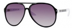 Gucci 1627 Sunglasses - 0IPI Black White / N3 Gray Gradient Lens