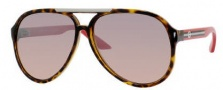 Gucci 1627 Sunglasses - 0Q22 Dark Havana-Orange / G4 Brown Mirror Gradient Lens
