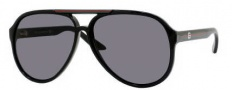 Gucci 1627 Sunglasses - 0D28 Shiny Black / R6 Gray Lens